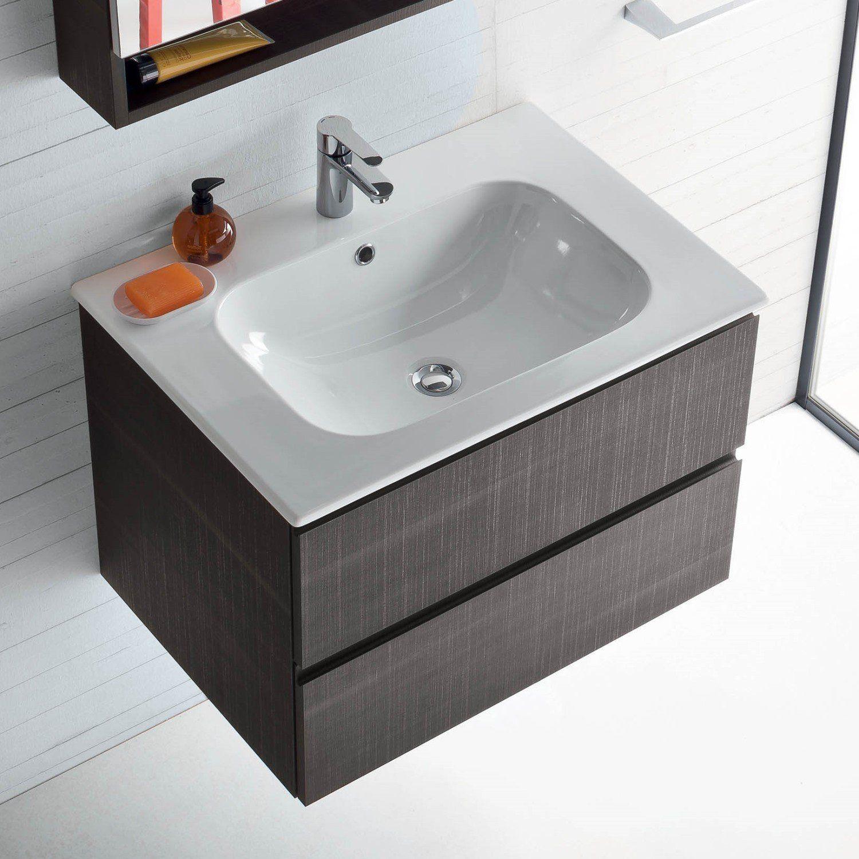 Mobile bagno con lavabo integrato nel piano atlantic arredaclick bagni pinterest bagni e - Mobile con lavabo bagno ...
