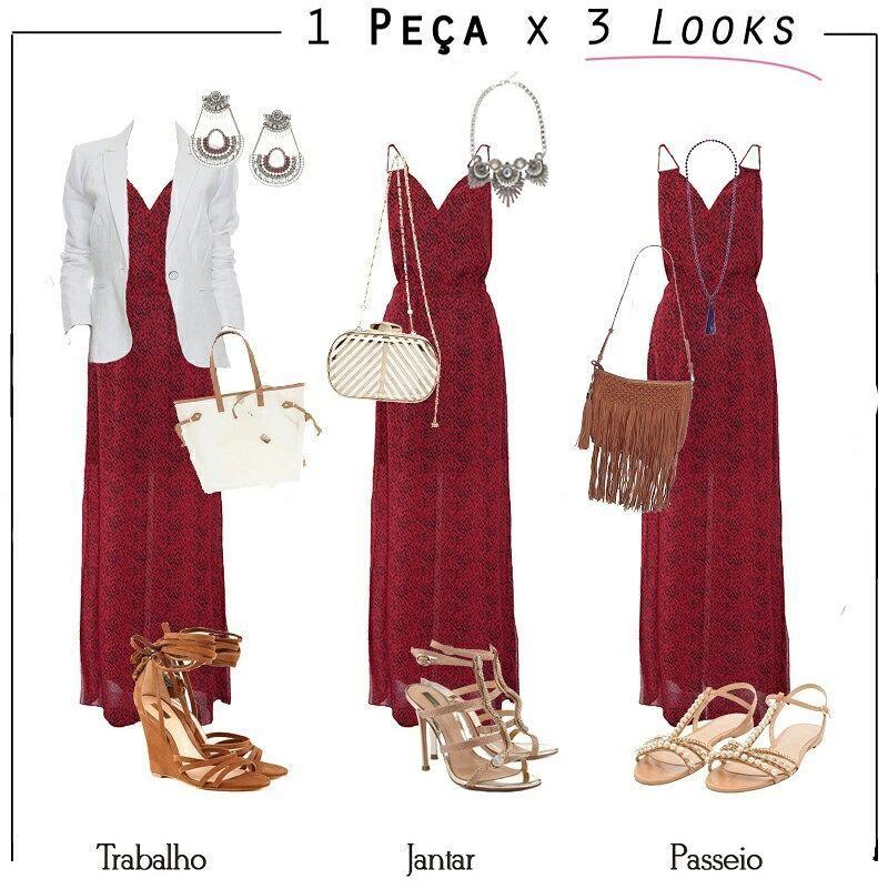 """389 curtidas, 6 comentários - D'belle Beauté (@dbellebeaute) no Instagram: """"✔ 1 peça x 3 looks!! O vestido longo é confortável, lindo e super feminino e pode compor produções…"""""""