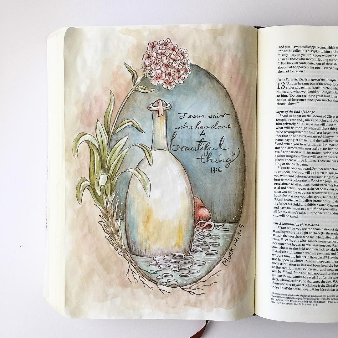 Mark 14 3 9 Fischtales Bible Art Journaling Faith Art
