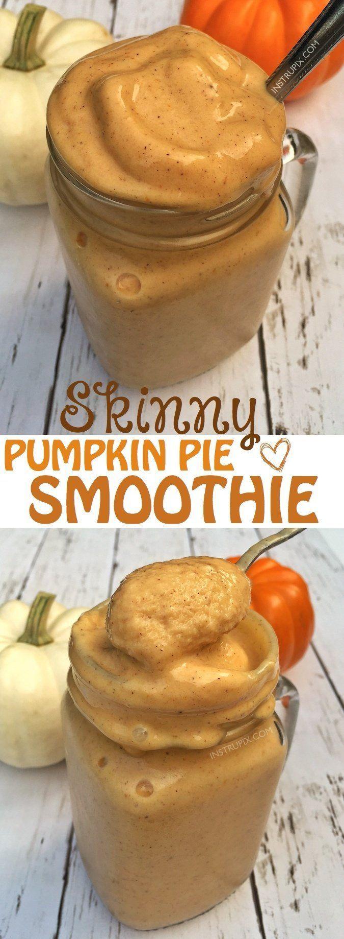 Healthy Pumpkin Pie Smoothie Recipe (SO GOOD!)