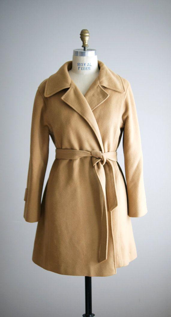 1970s HONEYTONE cashmere wrap coat