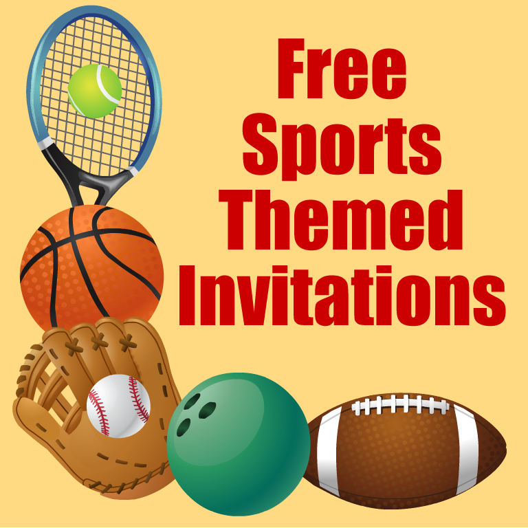 Free Printable Sports Birthday Party Invitations Templates – Free Printable Sports Birthday Invitations