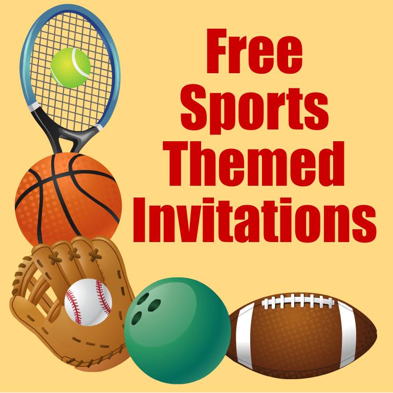 Free Printable Sports Birthday Party Invitations Templates