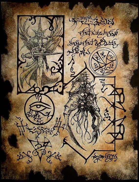 YOG FORMULAE Cthulhu larp Necronomicon Scrolls dark by zarono