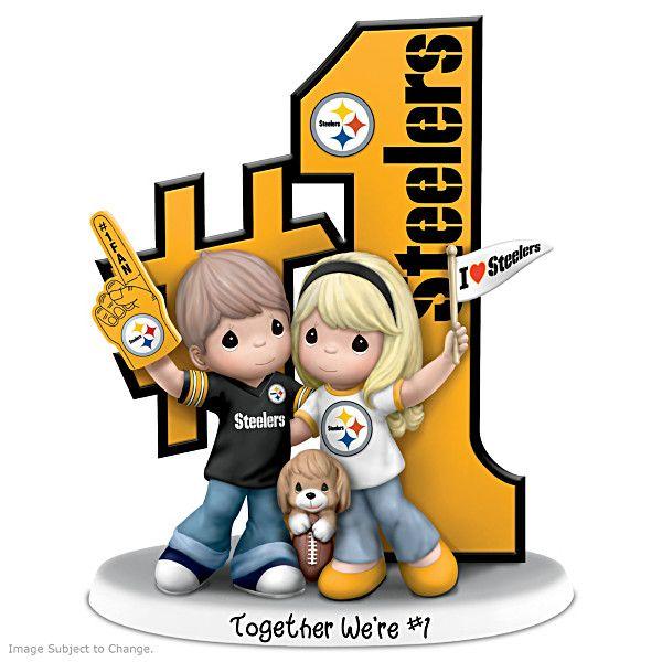 Precious Moments Romantic Pittsburgh Football Figurine