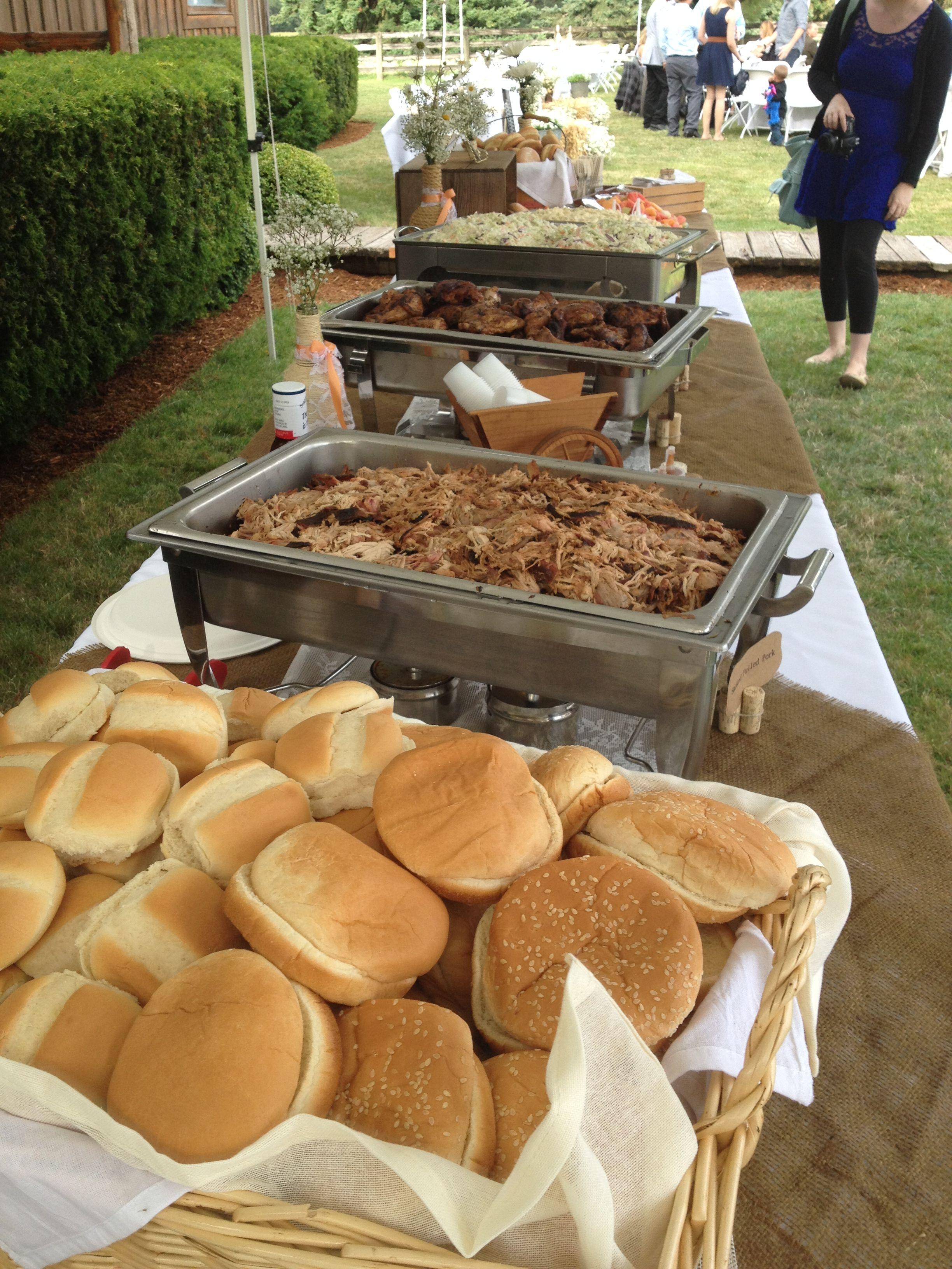 Buffet table outdoor wedding | Wedding buffet food, Buffet ...