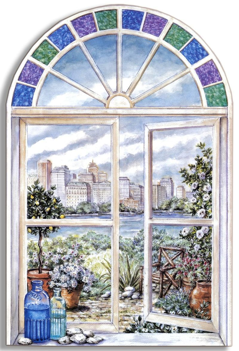 Картинки окна двери для декупажа