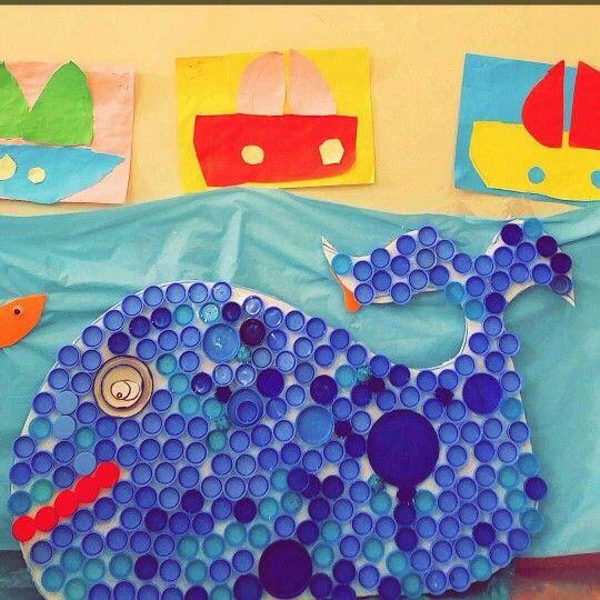 تطبيقي لعمل فني بالاغطيه وحدة الماء Kids Rugs Art Kids