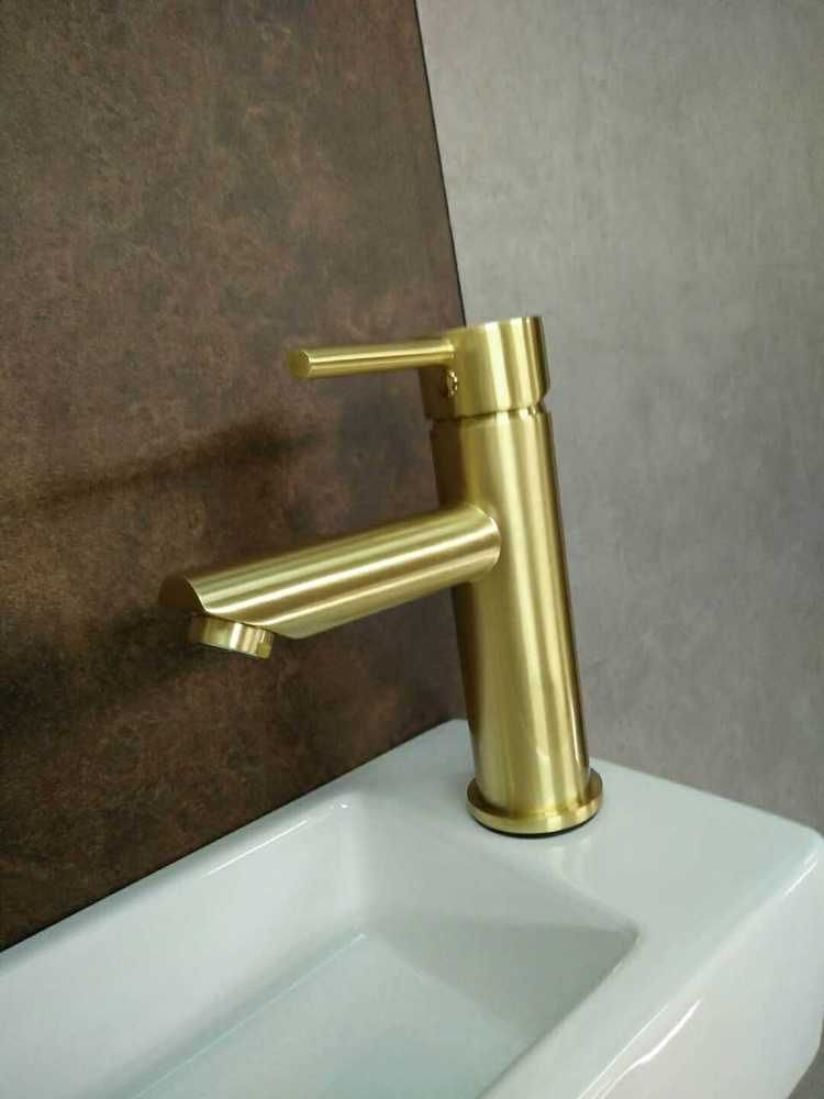 WELS round style basin tap faucet burnished brass gold tap mixer ...