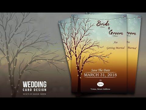 How to design wedding invitation card illustrator tutorial how to design wedding invitation card illustrator tutorial youtube stopboris Choice Image