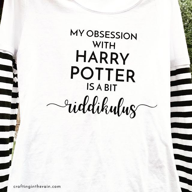 Harry Potter Obsession Shirt - free svg file