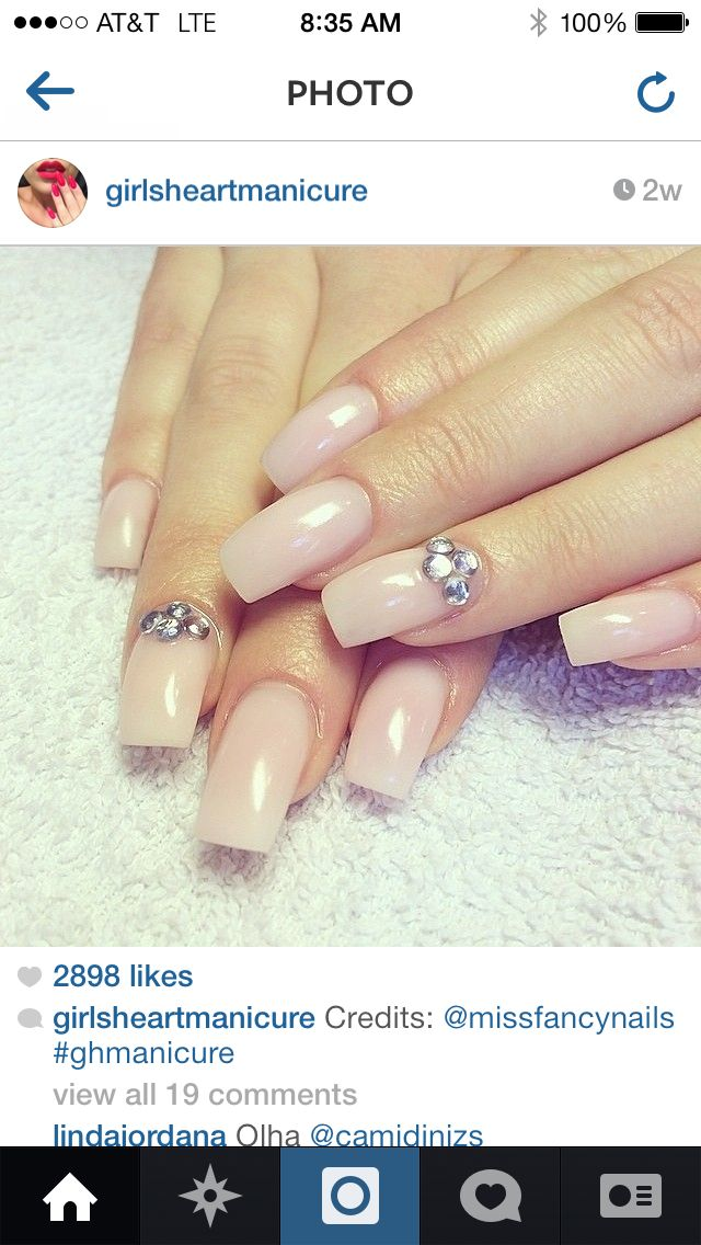 Gel long nails