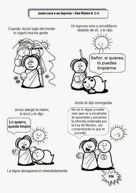 El Rincón de las Melli: Jesús cura a un leproso | Iglesia | Pinterest