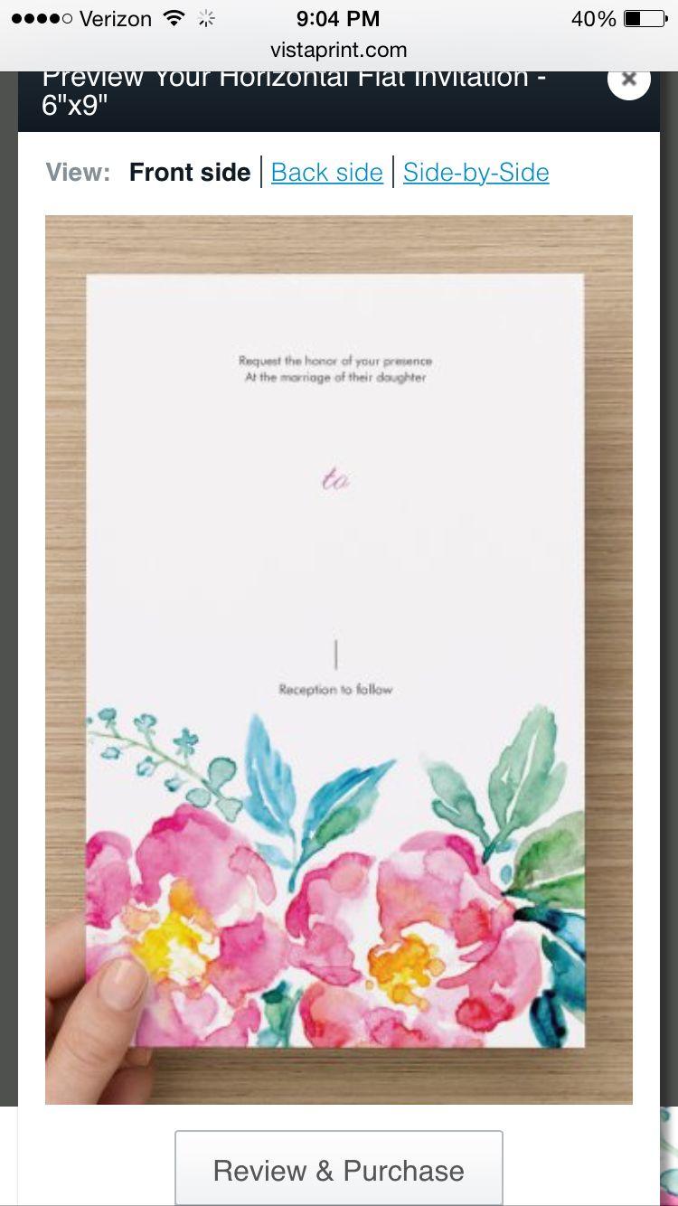 Wedding invitation vistaprint wedding ideas pinterest wedding invitation vistaprint monicamarmolfo Gallery