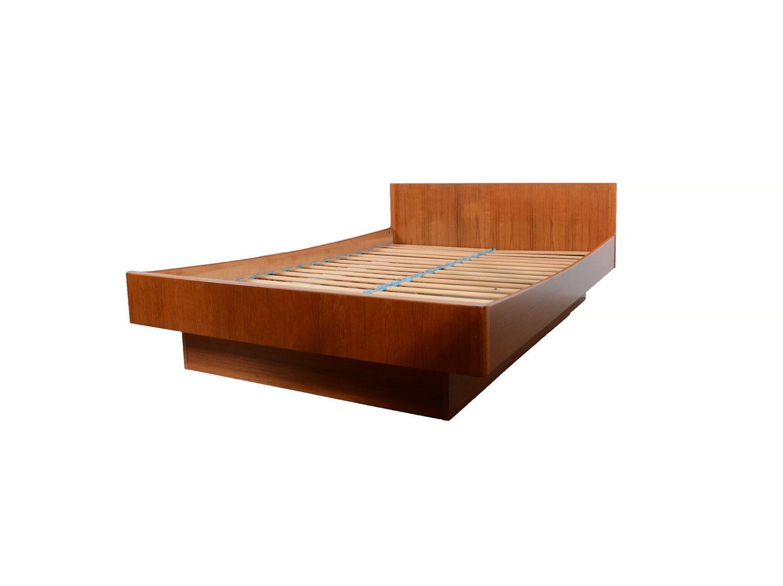Best Danish Modern Teak Full Platform Bed W B Mobler Denmark 400 x 300