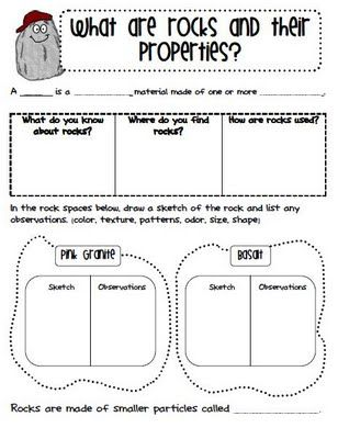 Ginger Snaps Rocks And Minerals This Is A Worksheet That