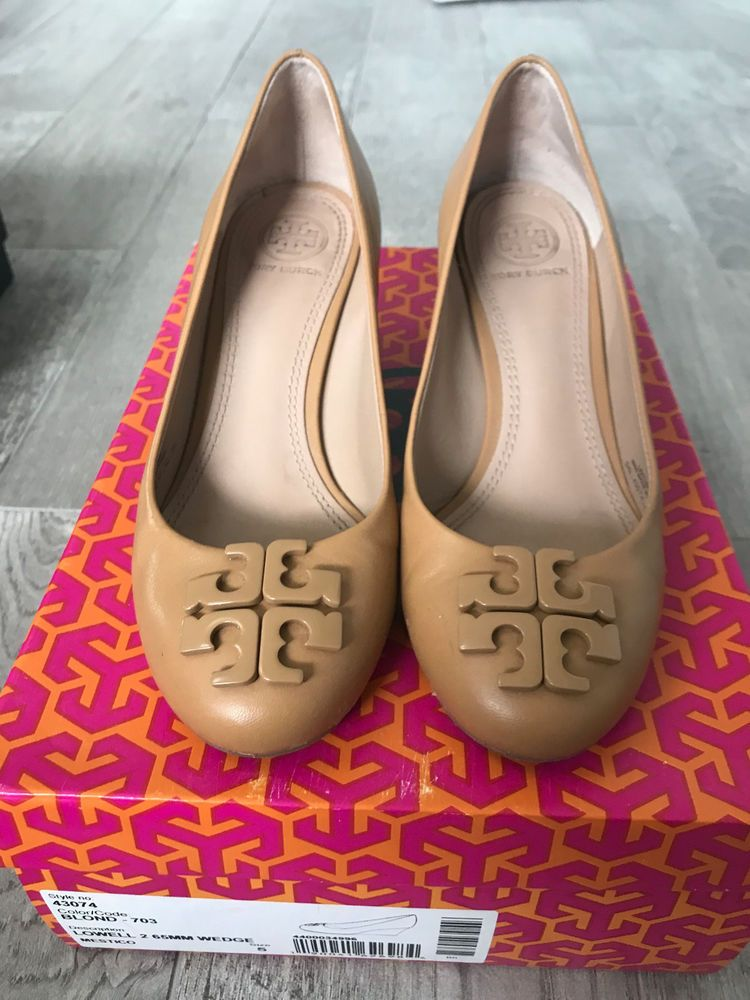 6df5844dfff1 Tory Burch Lowell Blond Wedge Size 5 Pre-owned  fashion  clothing  shoes   accessories  womensshoes  heels (ebay link)