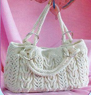 a2da341e7628 Схемы вязания сумки с причудливыми косами и переплетениями | вязание |  Knitted bags, Bags и Crochet purses