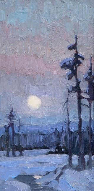 Winter Moonrise - Ken Roth