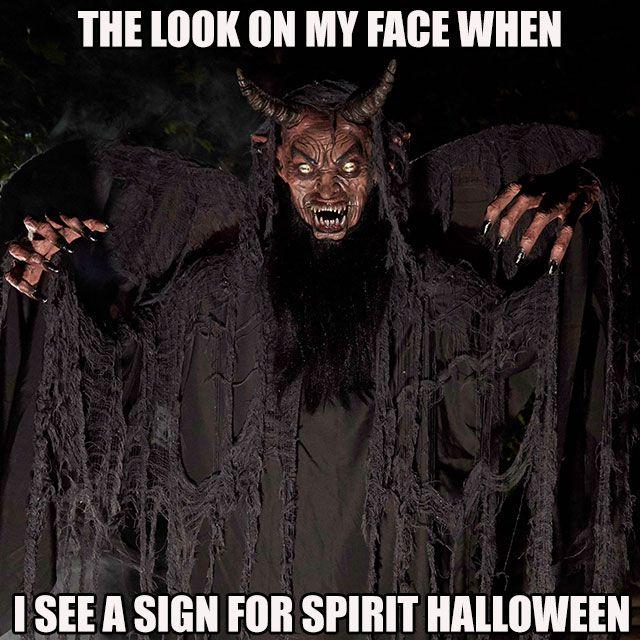 Beware of this Forest Demon at Spirit Halloween! I love Loki\u003c3