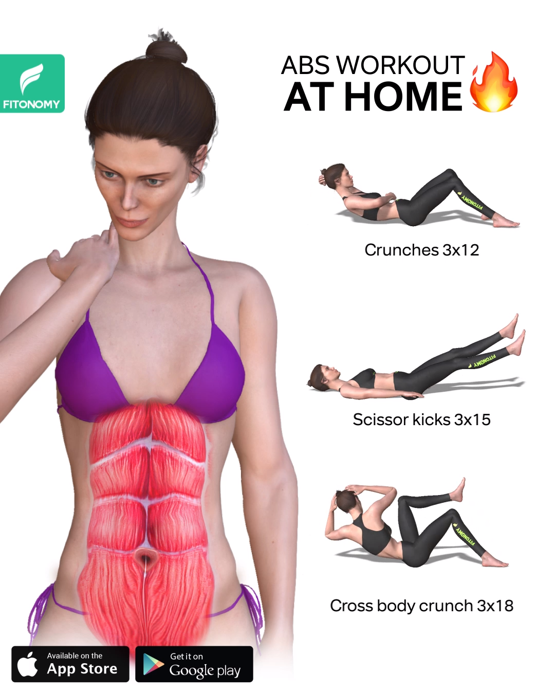 Photo of ABS WORKOUT AT HOME