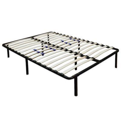 E-Rest Wood & Metal Platform Bed Frame - BedBathandBeyond.com