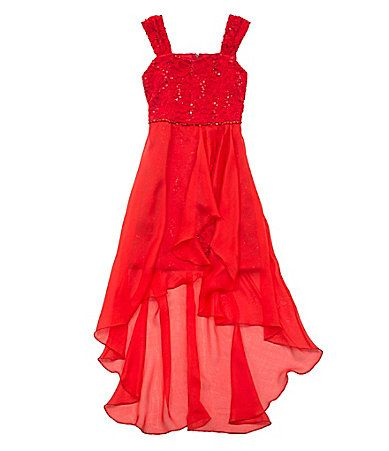 Tween Diva 716 Lacebodice Hilow Chiffon Dress Dillards Valentines
