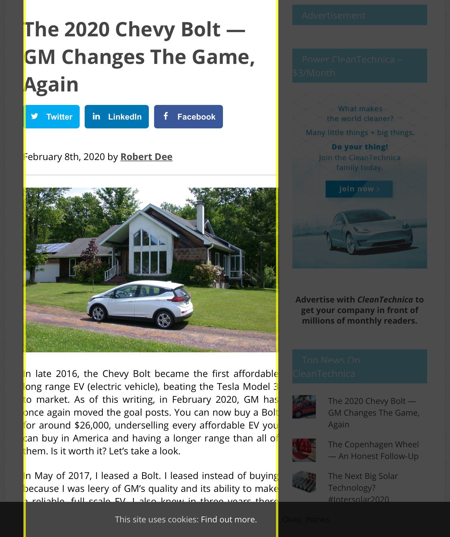 The 2020 Chevy Bolt Gm Changes The Game Again Cleantechnica In 2020
