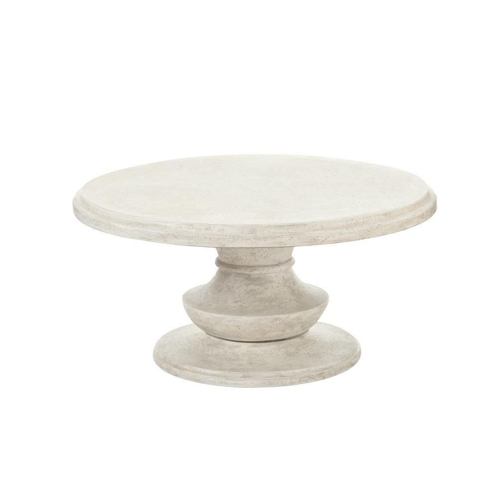round outdoor coffee table. Hampton Bay Megan Round Terrafab Outdoor Coffee Table
