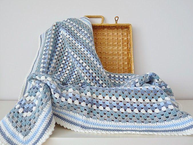 Studio 92 Designs: Granny Square babydeken / granny square baby blanket #haken #crochet