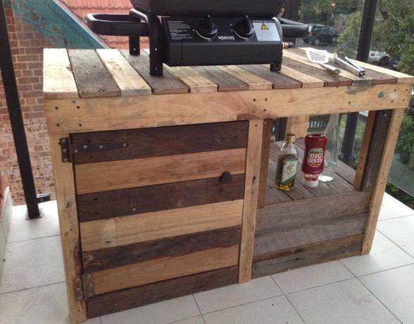 pallet ideas for bbq area gardening pinterest meuble pour plancha barbec et meubles. Black Bedroom Furniture Sets. Home Design Ideas