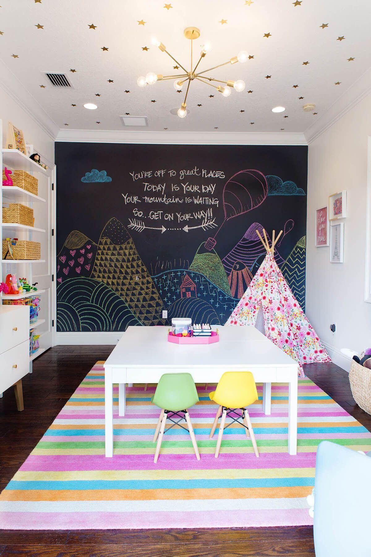 26 Entzückende Kinderzimmerdekor-Ideen, um den Platz Ihrer Kinder zum Spaß zu machen - Hause Dekore #salledejeuxenfant