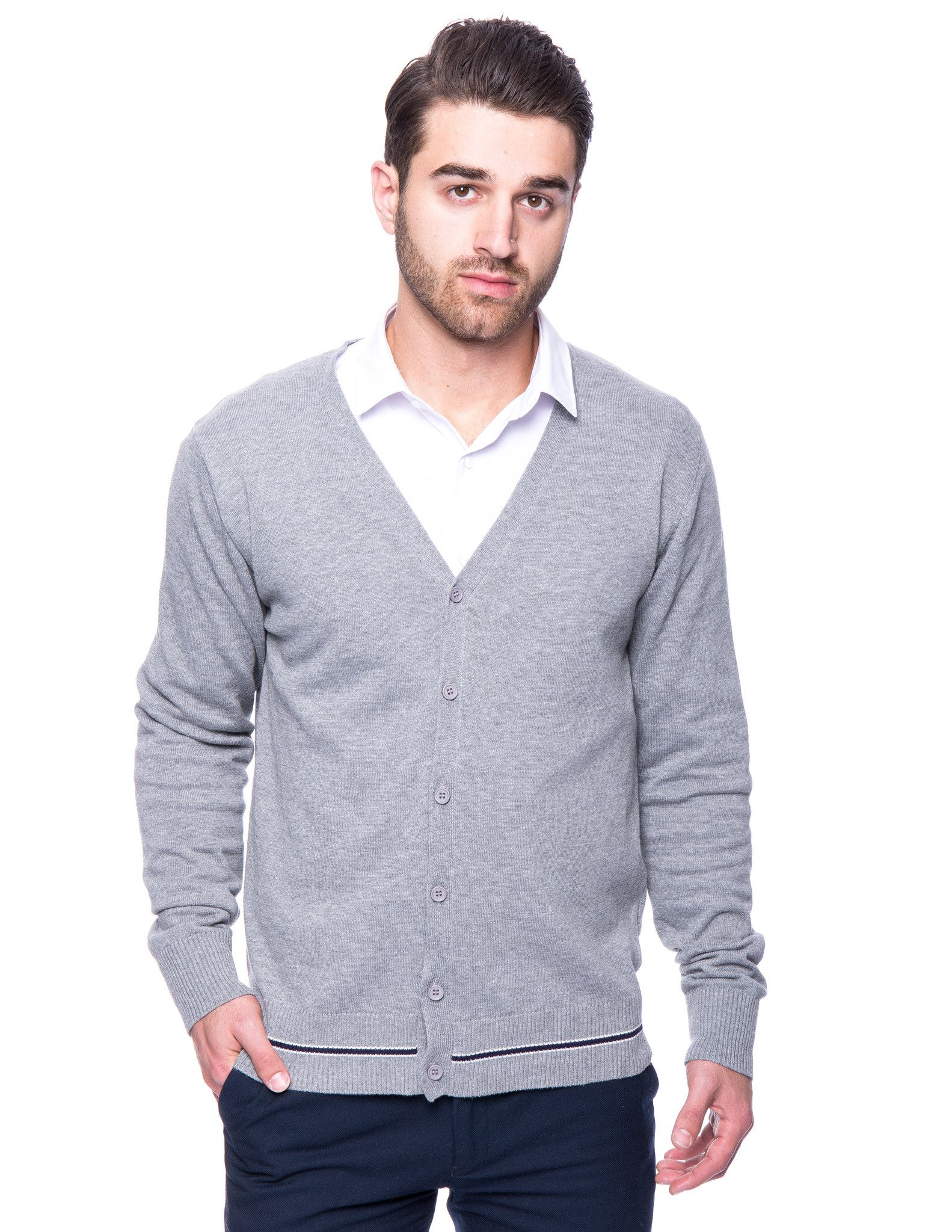 Tocco Reale Men's 100% Cotton Cardigan Sweater | Products, Cotton ...