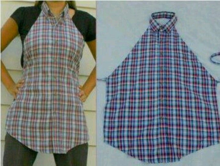 Apron from recycled shirt