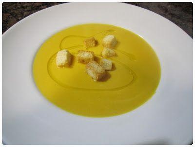 Crema de calabaza con queso azul, receta con thermomix | Saltando la Dieta - Blog de Cocina