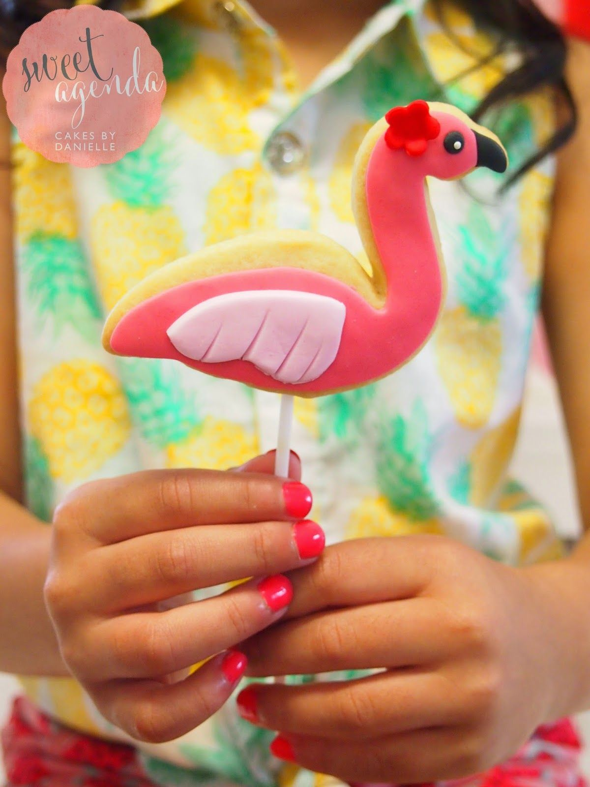 Hawaiian Themed :: Dessert Table! Flamingo cookie for Luau Party by Sweet Agenda Cakes
