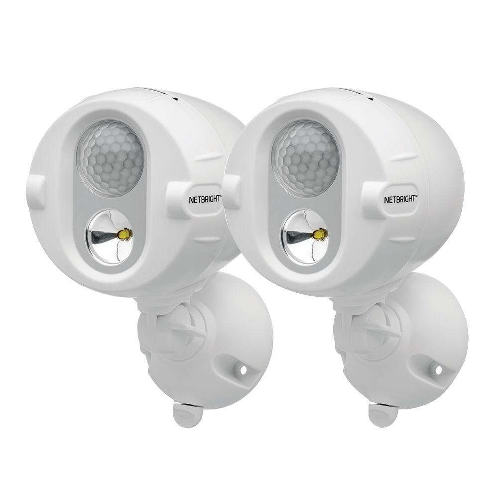Mr Beams Networked Wireless Motion Sensing Outdoor Led Spot Light System With Netbright Technology 200 Lumens 2 Pack Lighting System Beams Home Security Tips