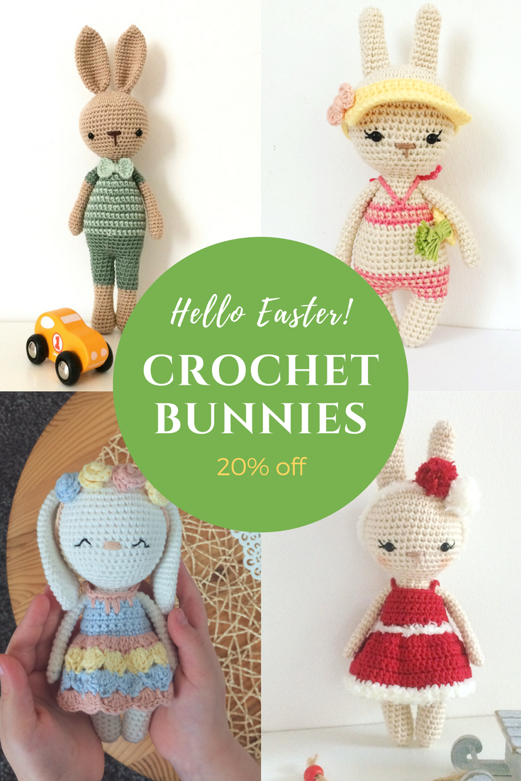 Crochet bunny patterns for sale  Just in time for Easter