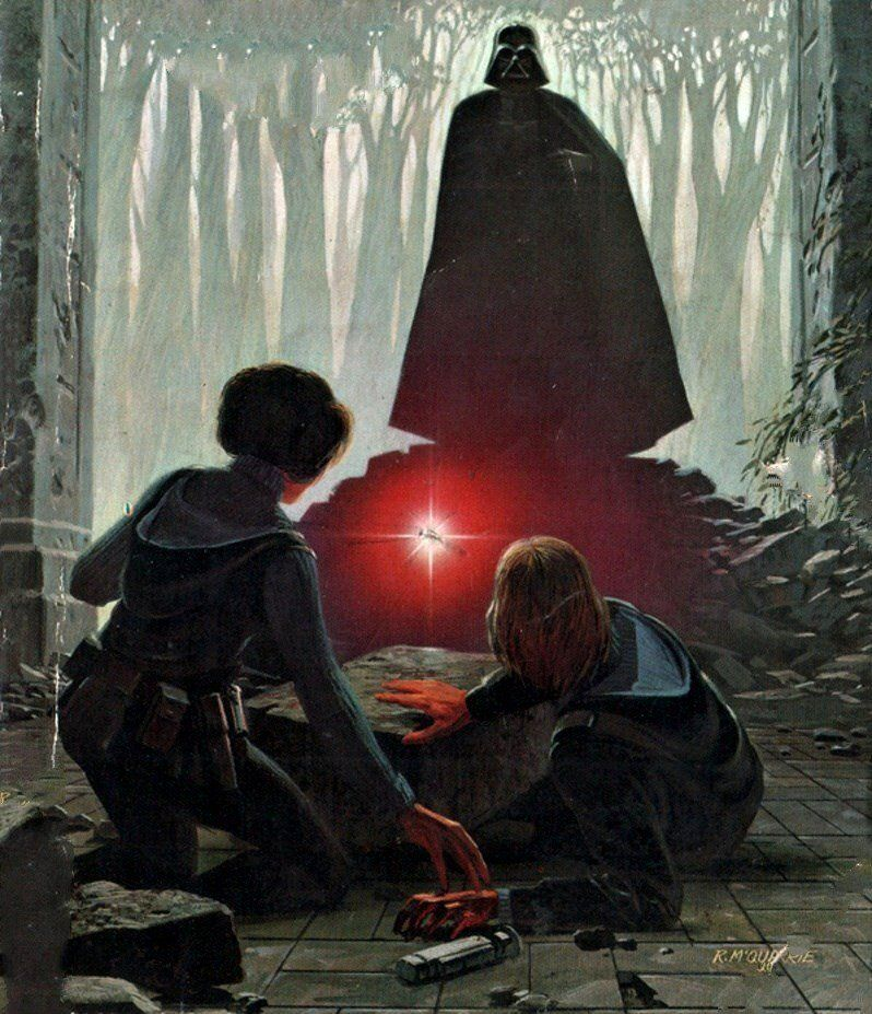 Ralph Mcquarrie Cover Art For Splinter Of The Mind S Eye By Alan