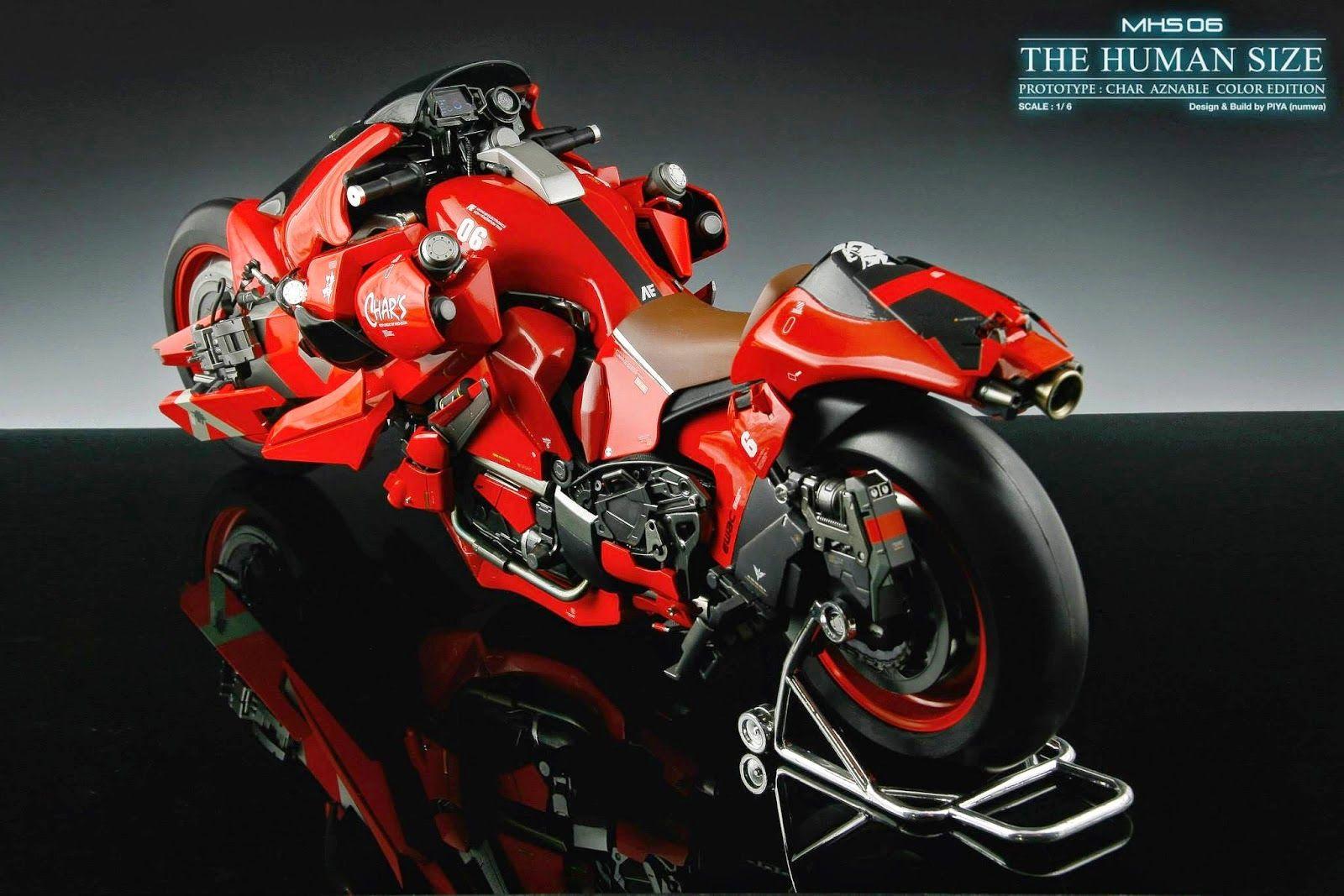 Gundam Guy 1 6 Scale Msh 06 The Humansize Custom Build Cyberpunk Bike Futuristic Bike Futuristic Motorcycle