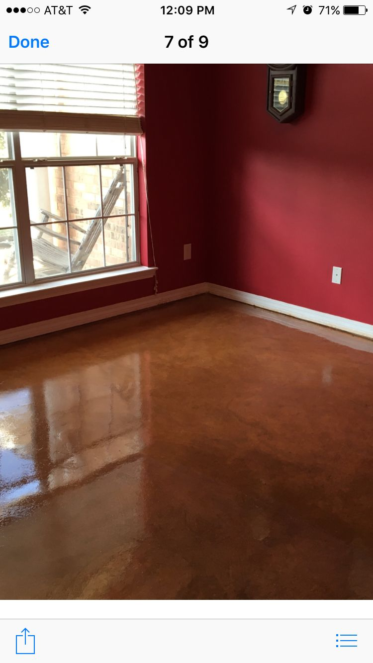 Final Product Of Concrete Floor Using Behr Natural Henna Stain