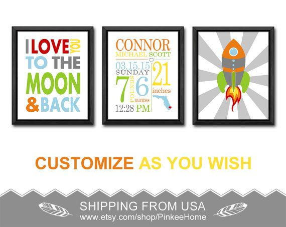 Love you to the moon personalized baby gifts wall decor space baby love you to the moon personalized baby gifts wall decor space baby wall decor with stats negle Gallery