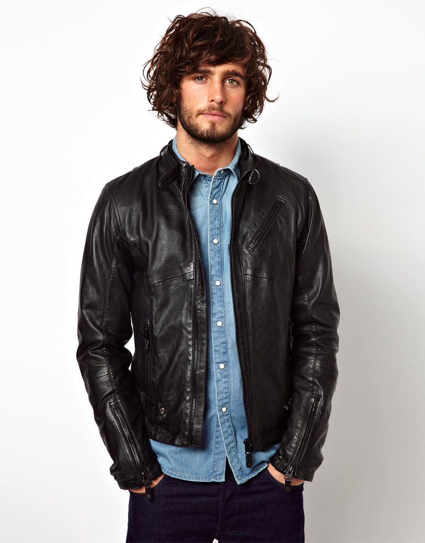 G Star Leather Jacket Chopper Zip Front Latest Fashion Clothes Leather Jacket Jackets [ 1110 x 870 Pixel ]