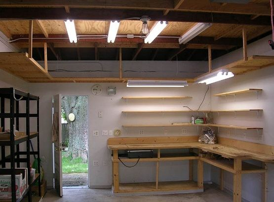 Diy L Shape Garage Workbench Ideas Love The U Shaped