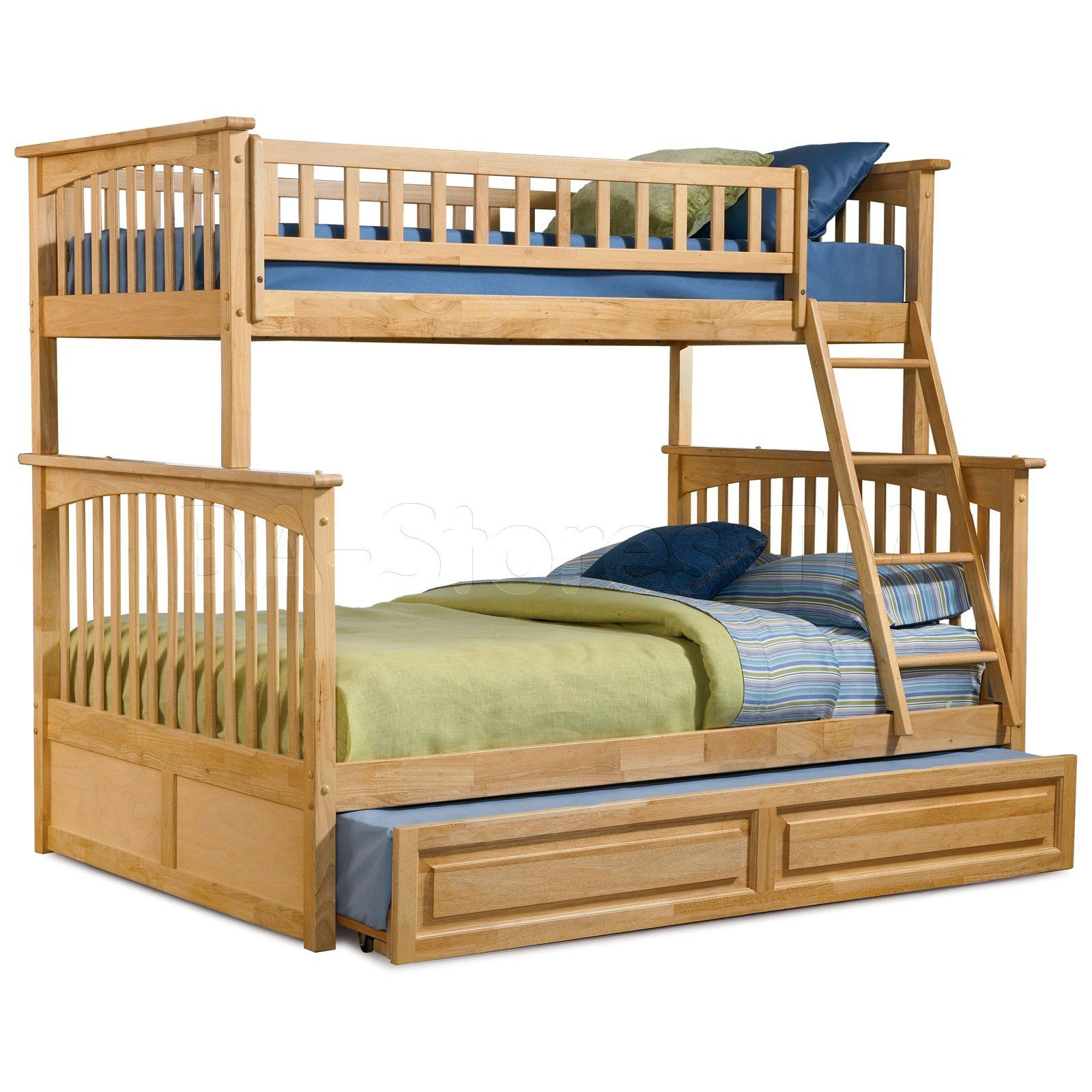 Columbia Twin X2f Full Bunk Bed Raised Panel Trundle
