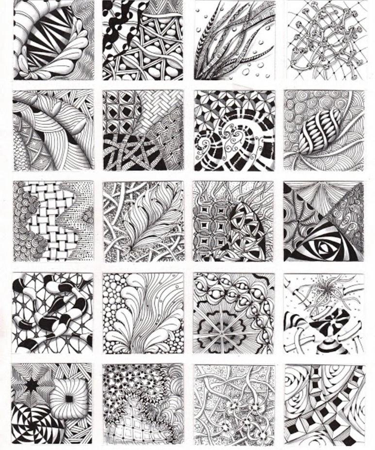 How to Zentangle Patterns Free | Zentangle Patterns & Ideas ...