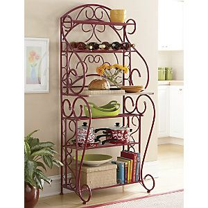 Red Bakers Rack From Through The Country Door Cb61843 With