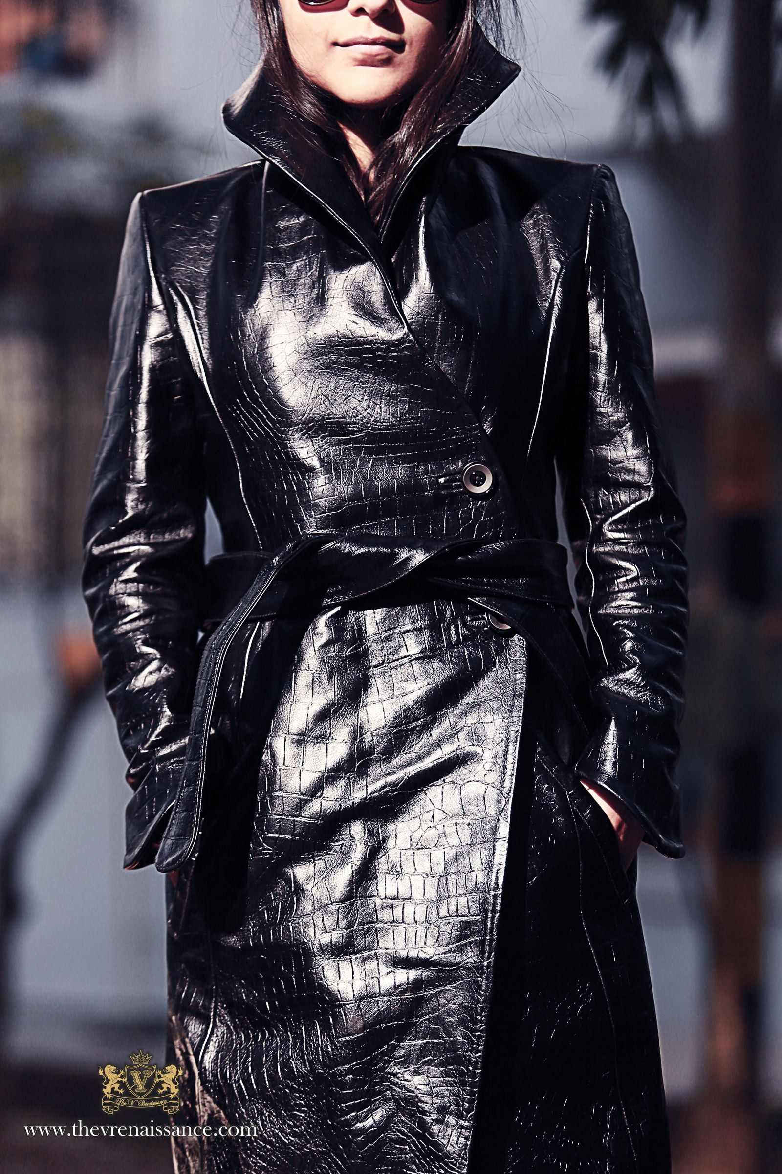 Pair The V Renaissance Black Croc Queen's Collar #Leather #Trench ...