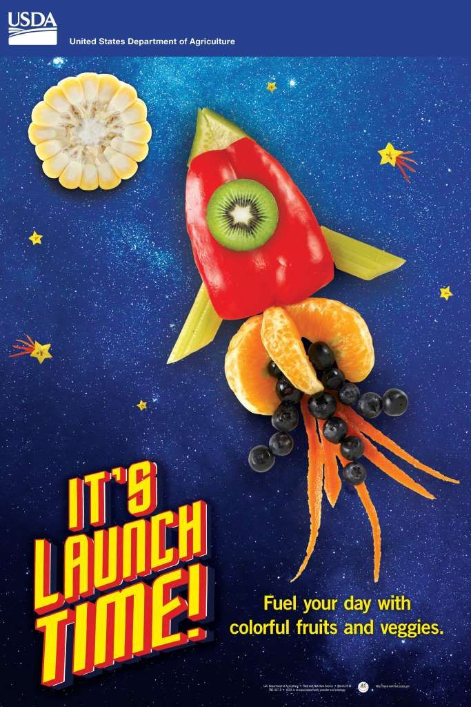 It S Launch Time Poster Usda Team Nutrition Healthy