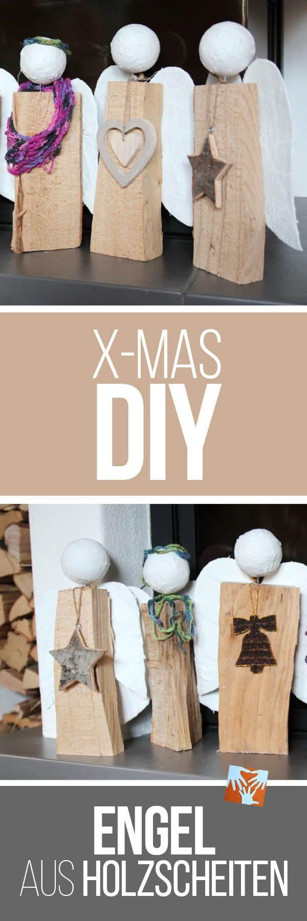 engel aus holzscheiten selbstgemachtes weihnachtsgeschenk. Black Bedroom Furniture Sets. Home Design Ideas
